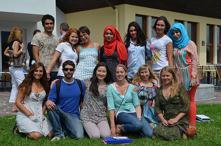 An group of students from various countries.